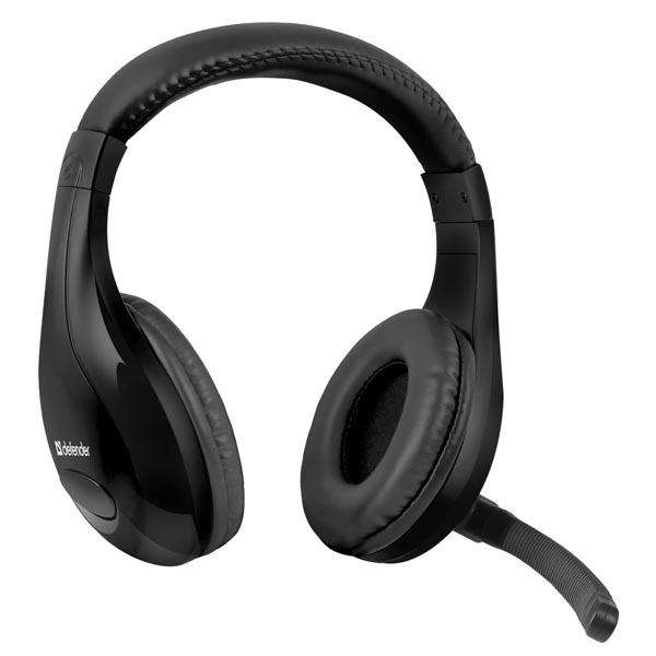 Defender, Warhead G-170, herní sluchátka s mikrofonem, ovládání hlasitosti, černá, 2x 3.5 mm jack