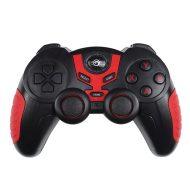 Gamepad Marvo Li-Ion, GT-60, bezdrátový, Bluetooth 2.1 + EDR, 13tl., všesměrový ovladač, Bluetooth + USB, černo-červený, s držákem