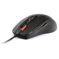 A4tech Myš F5, 3000DPI, optická, 7tl., 1 kolečko, drátová USB, černá, herní, V-Track, paměť 160kB