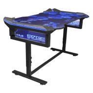 E-Blue Herní stůl EGT004 135x78,5x69,5 cm, RGB podsvícení, výškově nastavitelný, s podložkou pod myš