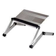 Podstavec pod notebook, s možností rotace o 360°, stříbrný, hliník-plast, 10 kg nosnost