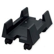 Držák PC na zem, nastavitelná šířka, černý, plast, šířka 15-25,5 cm, černá, PC