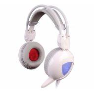 A4tech, Bloody G310, sluchátka s mikrofonem, ovládání hlasitosti, bílá, herní sluchátka, 2x 3.5 mm jack + USB