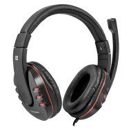 Defender, Warhead G-160, herní sluchátka s mikrofonem, ovládání hlasitosti, černá, 2x 3.5 mm jack