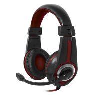 Defender, Warhead G-185, herní sluchátka s mikrofonem, ovládání hlasitosti, černo-červená, 2x 3.5 mm jack