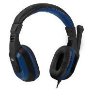Defender, Warhead G-190, herní sluchátka s mikrofonem, ovládání hlasitosti, černo-modrá, 2x 3.5 mm jack