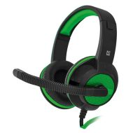Defender, Warhead G-200, herní sluchátka s mikrofonem, ovládání hlasitosti, černo-zelená, 2x 3.5 mm jack