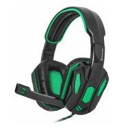Defender, Warhead G-275, sluchátka s mikrofonem, ovládání hlasitosti, černo-zelená, herní sluchátka, 2x 3.5 mm jack