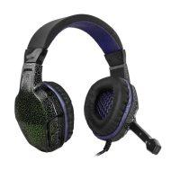 Defender, Warhead G-400, sluchátka s mikrofonem, ovládání hlasitosti, černo-fialová, herní sluchátka, 2x USB
