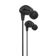 DA Marvo, DM0001BK, sluchátka s mikrofonem, bez ovládání hlasitosti, černá, špuntová, 3.5 mm jack