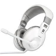E-Blue, Conqueror I., sluchátka s mikrofonem, ovládání hlasitosti, bílá, 3.5 mm jack