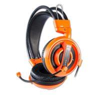 E-Blue, Cobra I, herní sluchátka s mikrofonem, oranžová, 3.5 mm jack