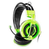 E-Blue, Cobra I, herní sluchátka s mikrofonem, zelená, 3.5 mm jack