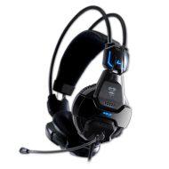E-Blue, Cobra 707, herní sluchátka s mikrofonem, černá, 3.5 mm jack + USB