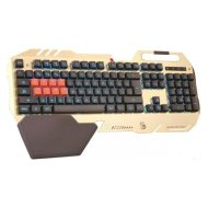A4Tech klávesnice B418, herní, zlatá, drátová (USB), CZ, podsvícená